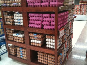 世界のスーパーマーケットのたまご売り場は?