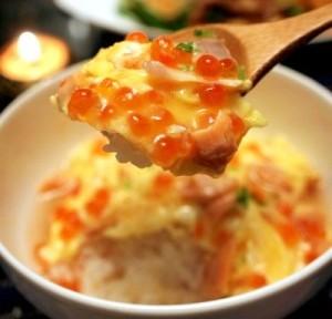 秋が旬!鮭といくらと卵を使った親子丼レシピ!