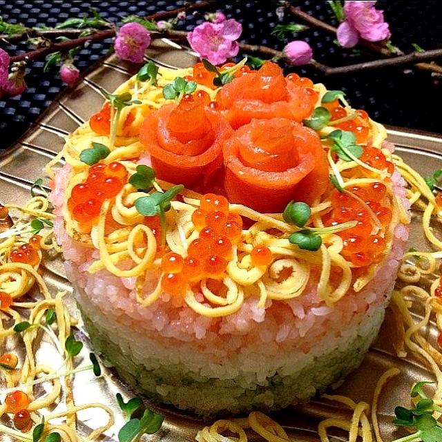 寿司ケーキでひな祭りを飾ろう! | 卵を使ったレシピ情報が満載