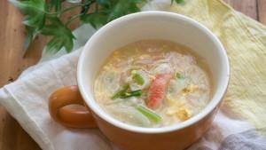 紅花たまごとかぶのあったかとろとろスープ