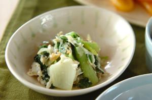 卵白活用レシピ第3弾!旬のチンゲンサイを使った卵白炒め