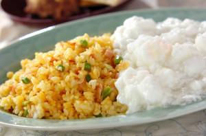 卵白活用レシピ第8弾!食感が楽しい!ふわふわメレンゲあんかけチャーハンの作り方