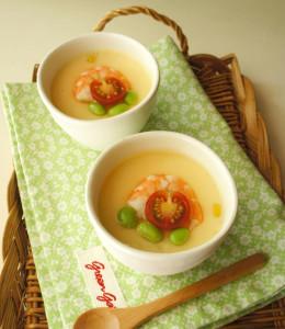 暑い夏は夏野菜が入った冷たい茶わん蒸しを食べよう!