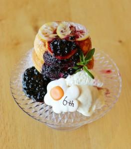 ウフウフガーデン6周年パンケーキのご紹介