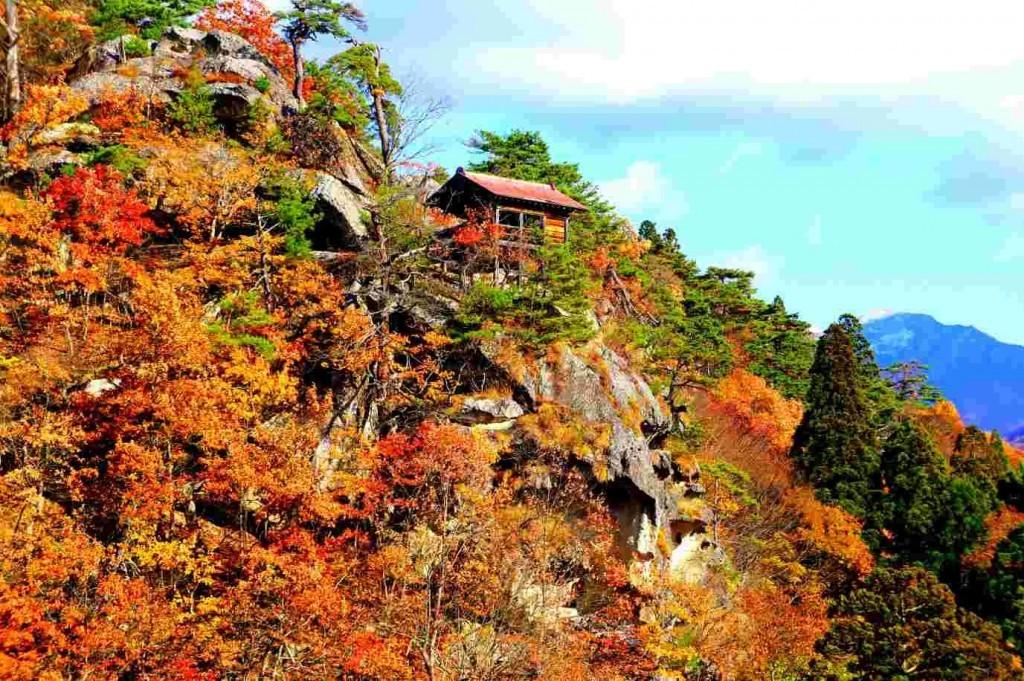 山寺の紅葉のやつ