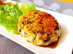 紅花たまごと豆腐で作る照り焼きハンバーグ