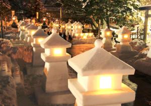 米沢の冬のお祭り「上杉雪灯篭まつり」にぜひお越しください