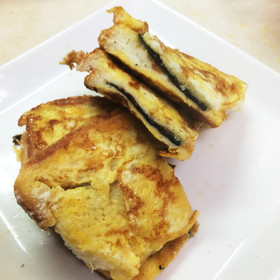 パンの日!簡単!チーズ磯部フレンチトースト
